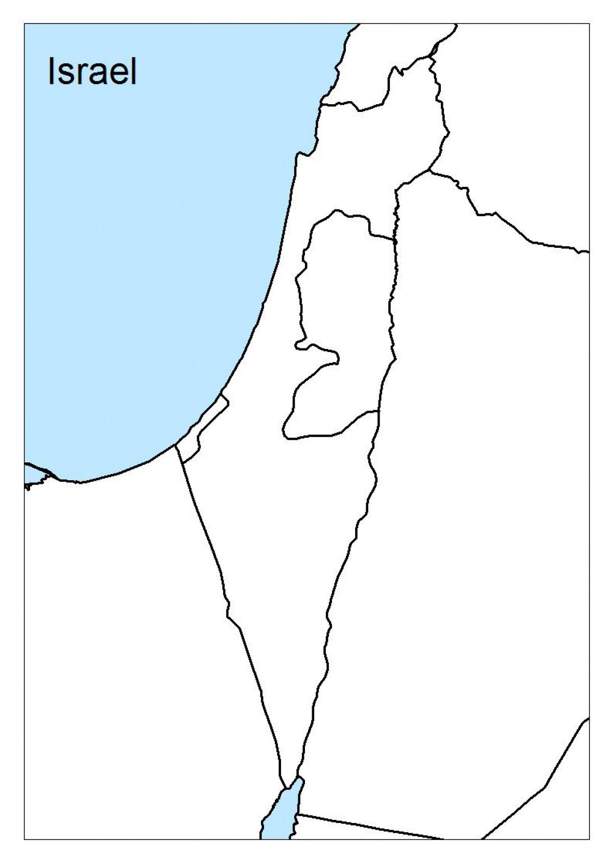 Blank Map Of Israel Israel blank map   Map of israel blank (Western Asia   Asia)