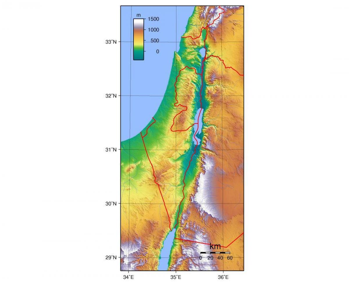 map of israel elevation