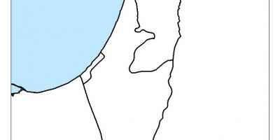 Map of israel blank
