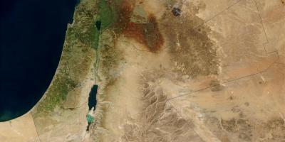 Map of israel satellite